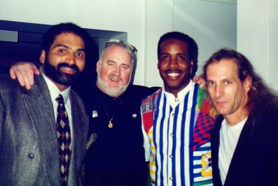 Ron Herbert, Franco Harris and Michael Bolton